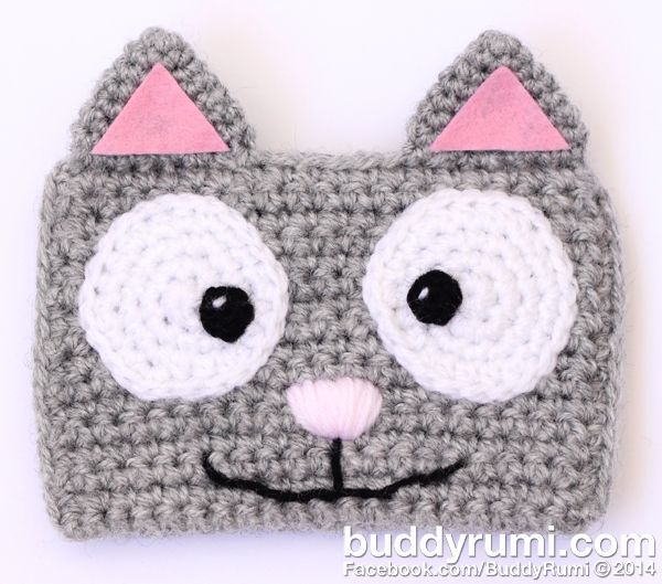 Crochet cat wallet