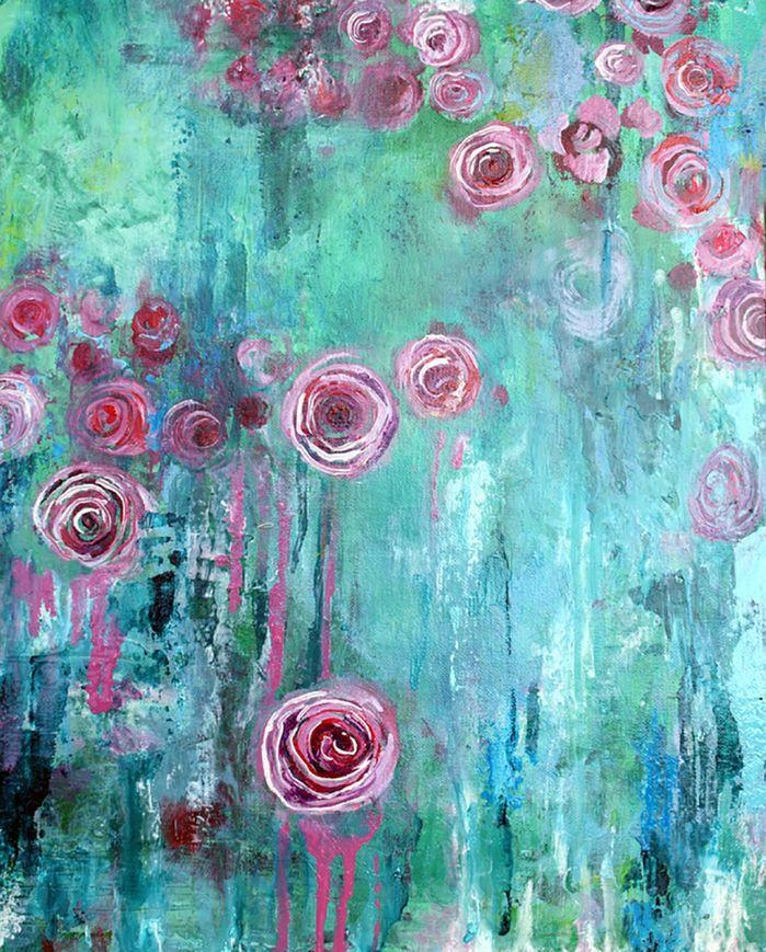 Hanging Rose Canvas Print