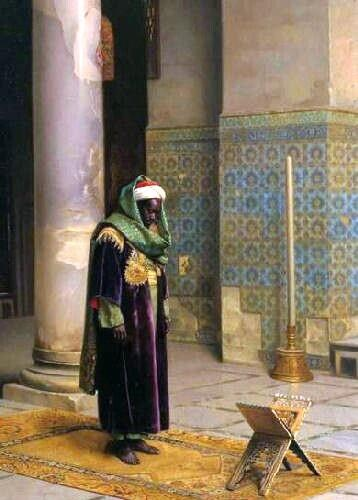 MOOR AT PRAYER (PAINTING BY LUDWIG DEUTSCH)