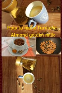 warm healthy drink for this winter , which will enhance your immunity has all the goodness of milk , almonds , turmeric . increases metabolism , protein of milk enhance the body repair. Healthy drink for whole family and easy to make and store it .