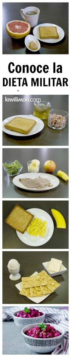 ¡Pierde hasta #5Kilos en 3 días con la dieta militar! #Diet