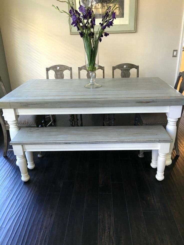 Best grey table ideas on stain stained within dining white