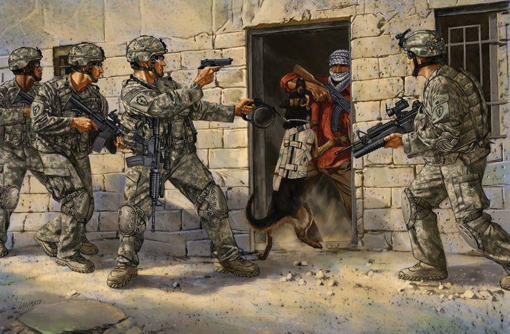 рисунок Американские солдаты