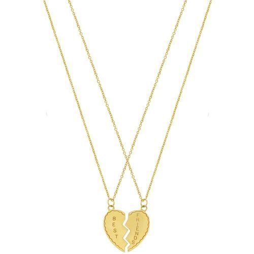 """.5 X 1"""" Best Friends Double Necklace On 2 16"""" Chains In Gold GirlPROPS. $11.99"""