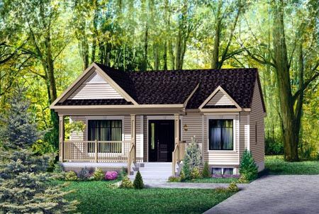 House Plan 52508 | Plan with 806 Sq. Ft., 1 Bedrooms, 1 Bathrooms