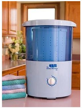 $63.95 - Mini Countertop Spin Dryer: Pull The Water Out Of Your Clothing in Just Minutes.