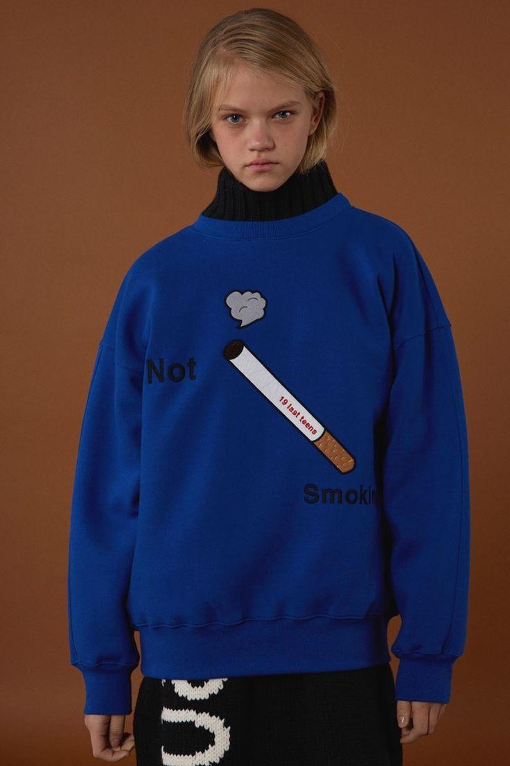 [BLUE] FW15 collection Smoking sweatshirts