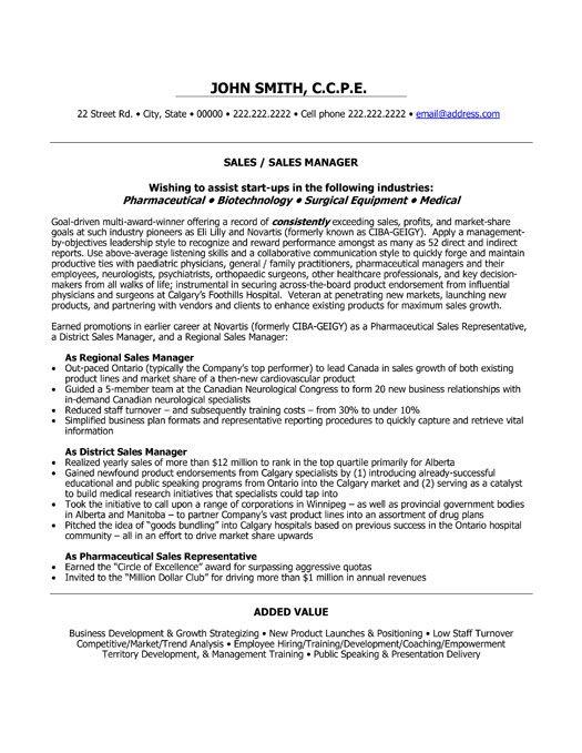 Sample Pharmaceutical Sales Resume Cover Letter Sample Cover ...
