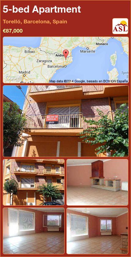 5-bed Apartment in Torelló, Barcelona, Spain ►€87,000 #PropertyForSaleInSpain