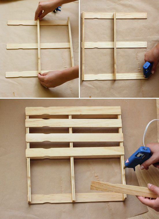 DIY paint stick pallet // At Home in Love