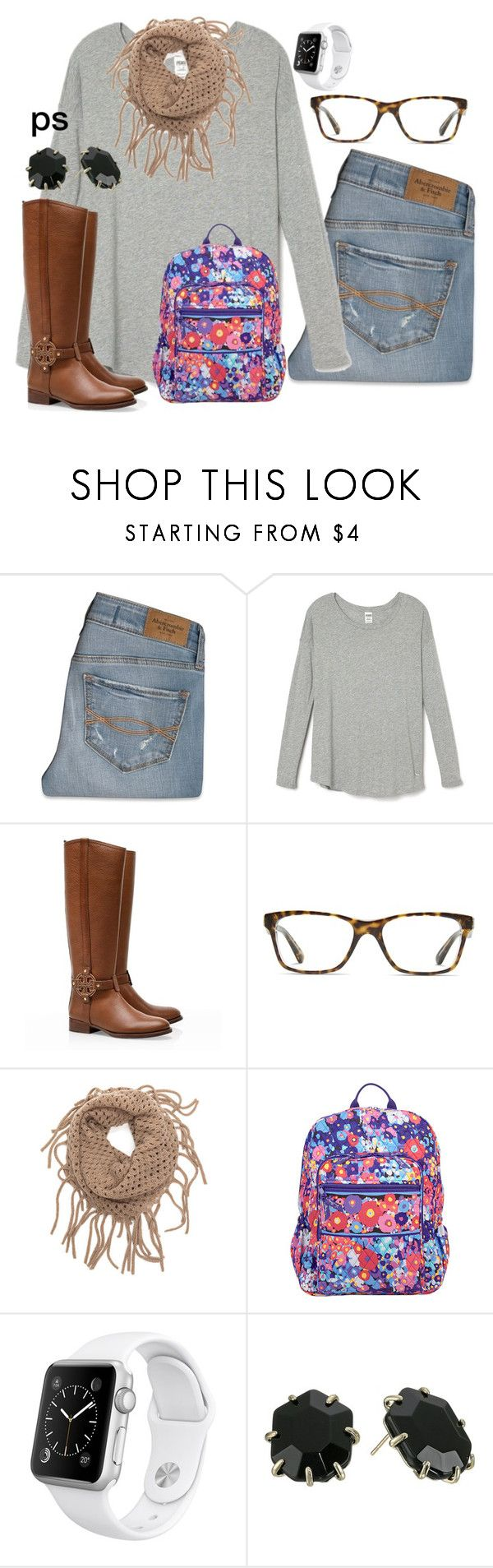 """ootd"" by prep-society ❤ liked on Polyvore featuring Abercrombie & Fitch, Tory Burch, GlassesUSA, Vera Bradley, Kendra Scott, women's clothing, women's fashion, women, female and woman"