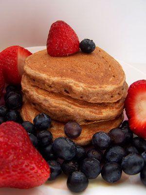 multigrain pancakes: Healthy Pancakes, Whole Grains Pancakes, Healthy Breakfast, Blueberries Pancakes, Pancakes Recipes, Breakfast Food, Pancake Recipes, Whole Wheat Pancakes, Whole Grain Pancakes