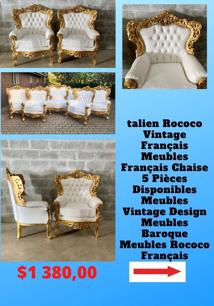 Italian Rococo Vintage French Furniture French Chair 5 Piece Available Vintage Furniture Interior Design Baroque Furniture Rococo French In 2020 Vintage French Furniture Baroque Furniture French Vintage
