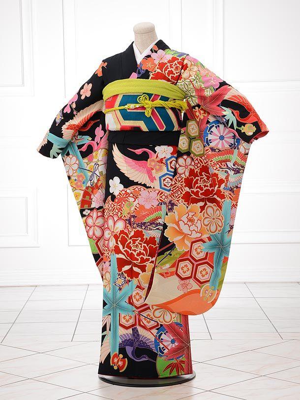 Bright Furisode Kimono