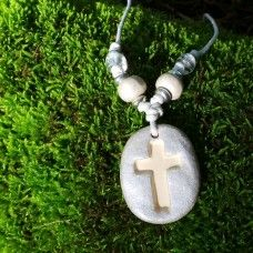 Christian Cross - Off-White & Silver. The cross has many shapes and forms through various Christian denominations. The cross holds a deep spiritual empowerment for those dedicated to the Christian faith and peaceful message of Jesus. The cross has a pure and protective quality that wards of negative energies. The cross is a symbol of faith, love and dedication to Christians throughout the world. Australian Made. $21.00au follow the link to our website.
