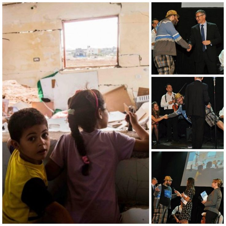 """'Siblings' from Gaza (August 2014) documentary war photography made it on a tour and two awards already. I thougth it's not so """"good"""" picture, yet seems is the one people connect most with. On the left side, 1, getting hand shakes with representative of European Commission for the human rights award in international aid. 2, I'm saying high not just to organizer but also to members of the live music band playing on the ceremony. 3, the pose """"flat-ville"""", explaining the background of the…"""