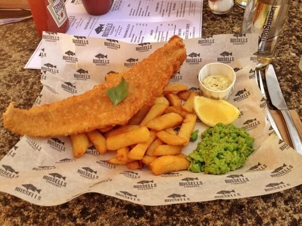 We print greaseproof paper for Russell's Fish & Chips. Adds the finishing touch to their amazing fish and chips!