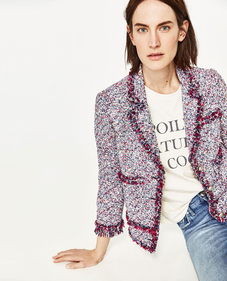 FRAYED JACKET-JACKETS-WOMAN | ZARA United States