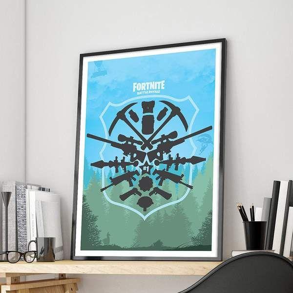 Fortnite Battle Royale Poster Fortnite Print Pubg Video Game Poster Video Game Posters Canvas Wall Art Poster Frame,Master Bedroom Small Two Bedroom Apartment Layout