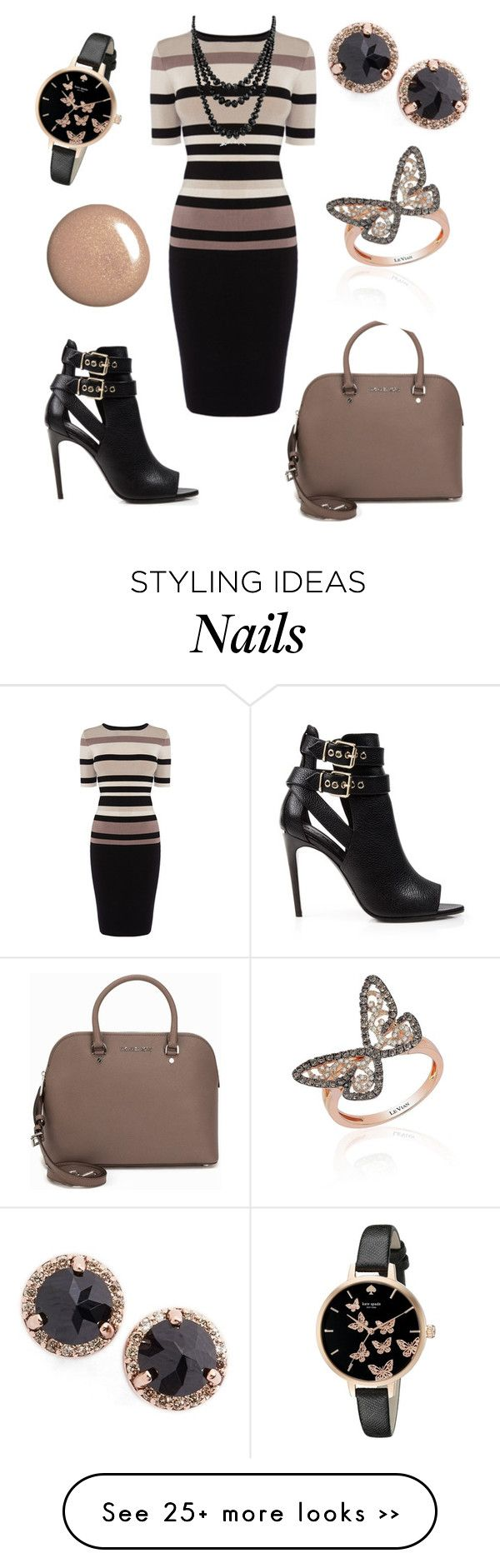"""""""Sally"""" by office-girl on Polyvore featuring Burberry, MICHAEL Michael Kors, Kate Spade, Anna Sheffield, LeVian and Bling Jewelry"""