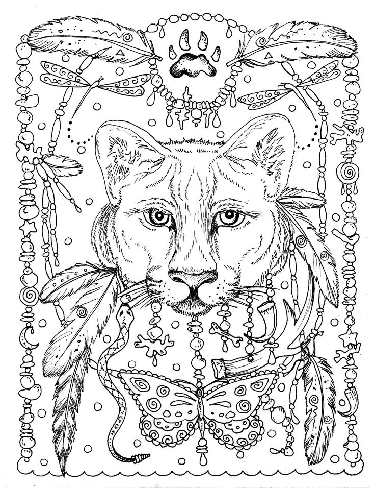159 best DreamCatcher Coloring Pages for Adults images on Pinterest ...