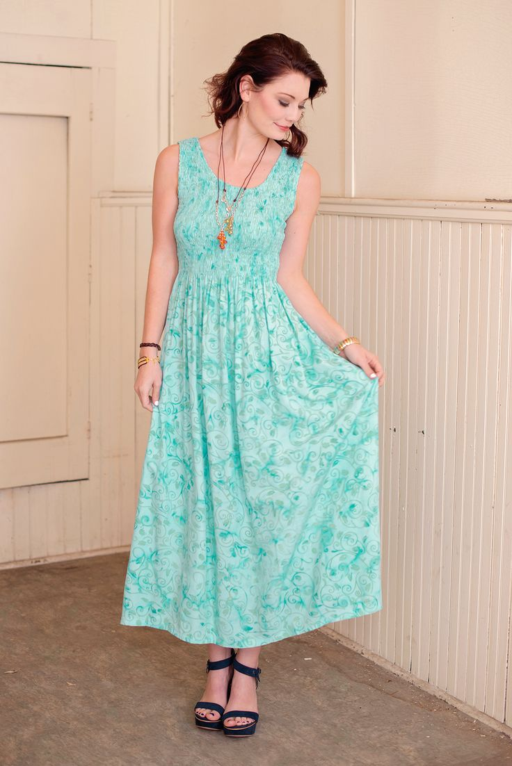 English Cottage Batik Maxi Dress – Go Fish Clothing & Jewelry Company