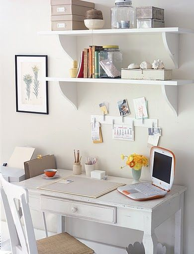 Compact, simple desk for home office/guest room