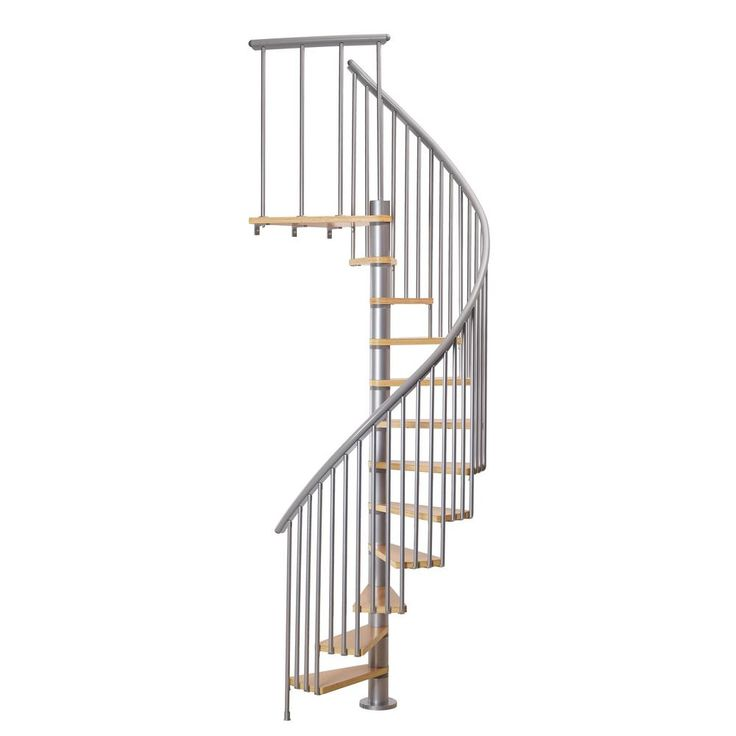 Dolle Calgary Grey 55 In Dia 2 Extra Baluster Stair Kit | Dolle Calgary Spiral Staircase