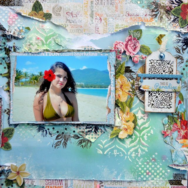 THIS IS PARADISE by Agnieszka Bellaidea for DT BoBunny http://bellaideascrapology.blogspot.com/2016/03/this-is-paradise.html