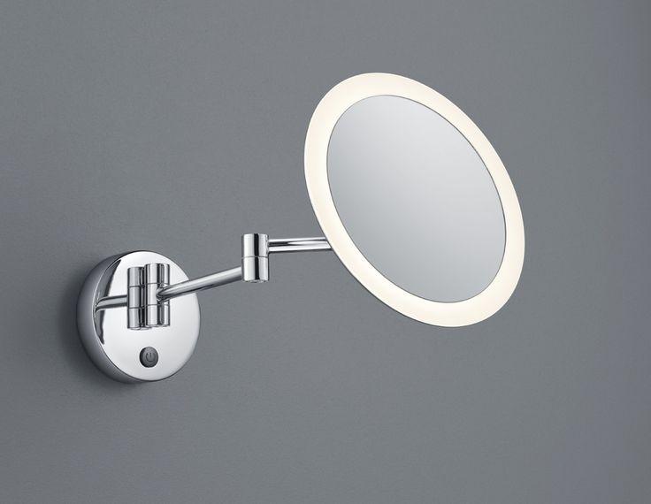 View H2O meikkipeili pyöreä LED 3 W kromi    Kromattu meikkipeili jota voi suunnata ja jossa 3-kertainen suurennus, valonlähde kiertää tyylikkäästi peilin reunustalla. Valittavissa kaksi asennustapaa, joko kiinteään syöttöön tai pistotulpalla pistorasiaan!