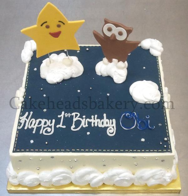 Star  Owl Cake by Cakeheads, via Flickr
