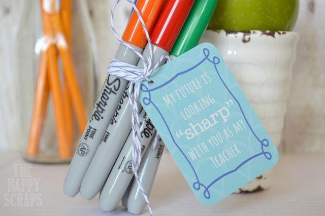 The Happy Scraps: Back to School {Sharpie} Teacher Gift