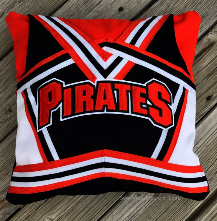 Custom Cheerleading Uniform Pillow Cover - Memory Pillow by SewMuchMooreInStore on Etsy https://www.etsy.com/listing/474032734/custom-cheerleading-uniform-pillow-cover
