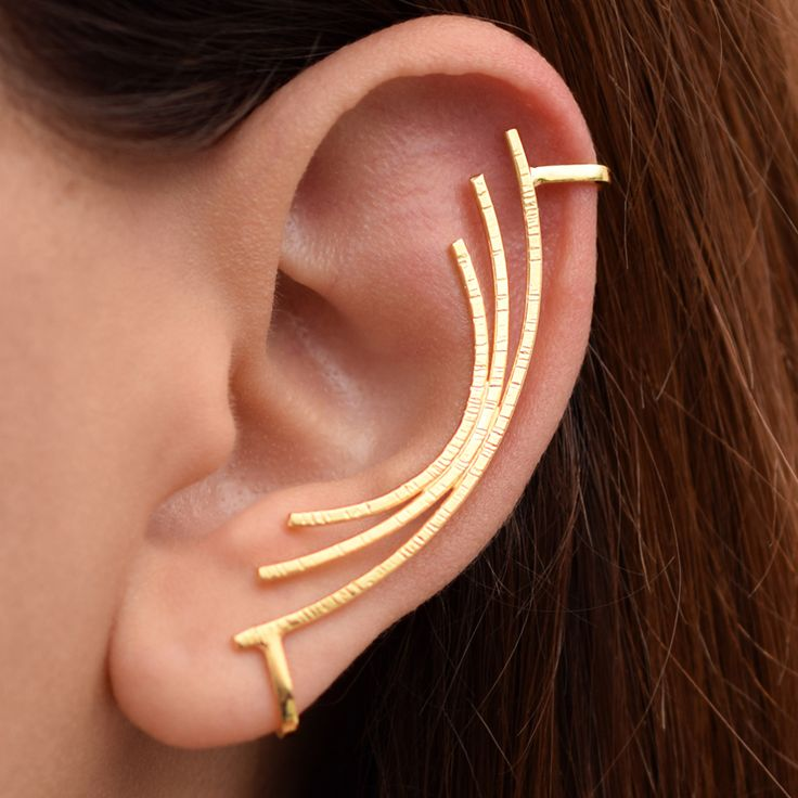 Handmade gold plated ear cuff by Emmanuela