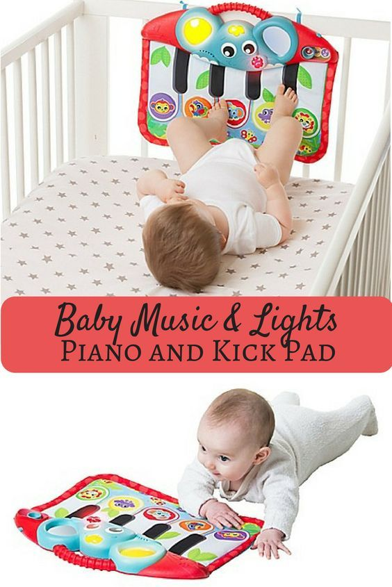 Music And Lights Piano And Kick Pad Entertains Baby With Its Fun