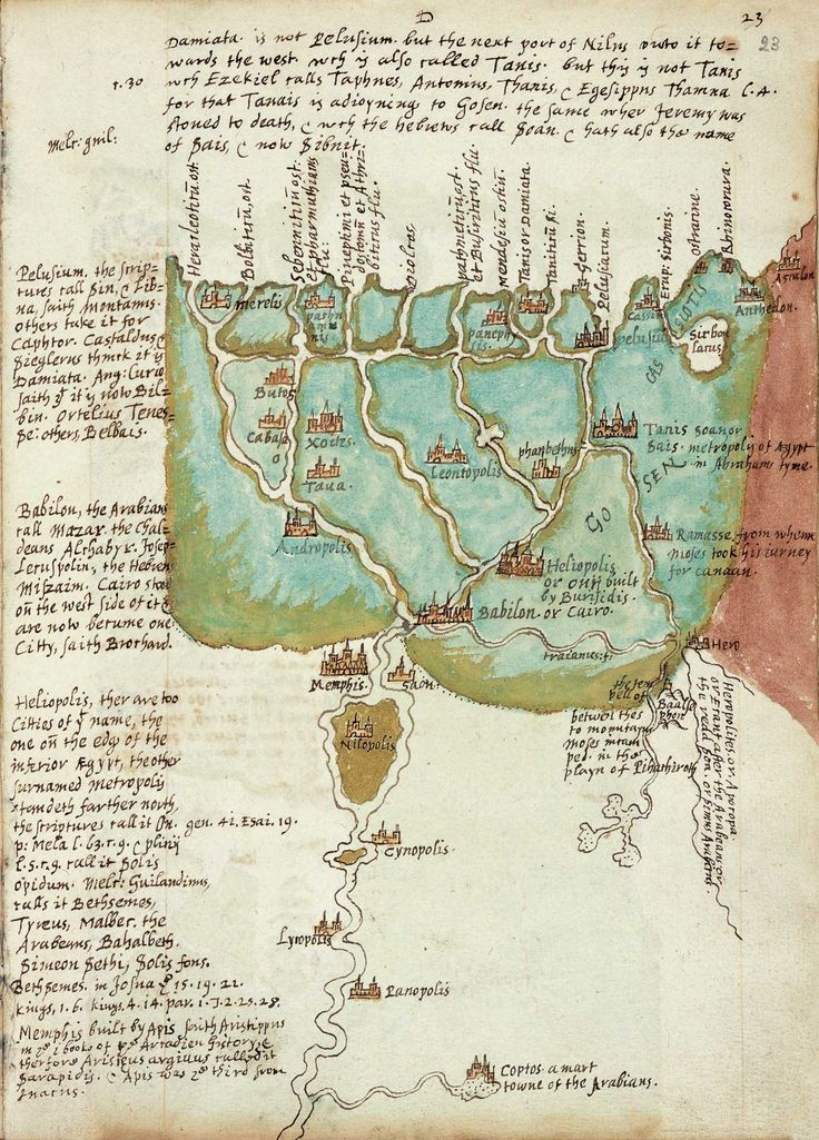 Egypt: the Nile delta and the history of the Pharaohs, from the notes of Sir Walter Raleigh, made during his imprisonment in the Tower of London, ca. 1603 - 1616
