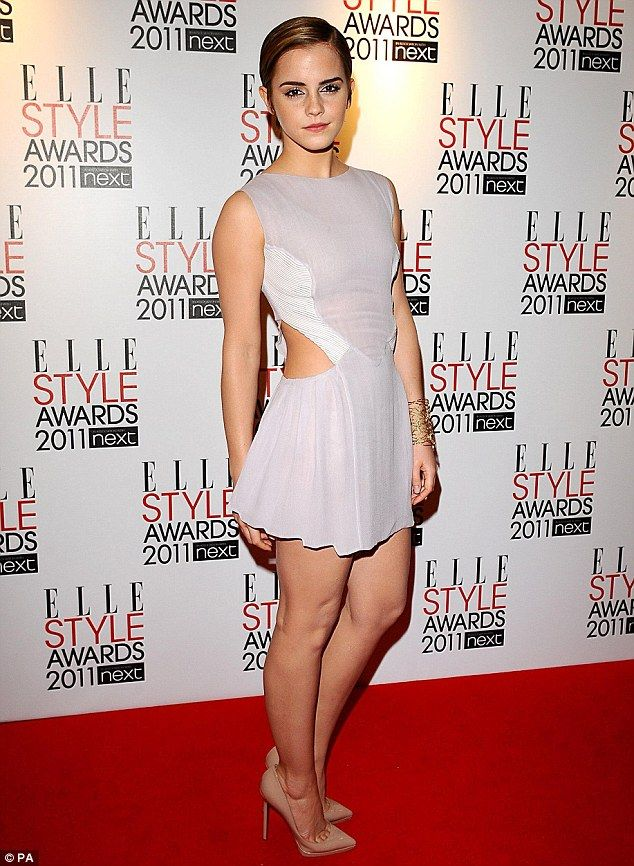 Emma Watson on the red carpet at the ELLE Style 2011 Awards