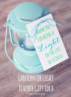 Here's a different idea for a DIY teacher's gift. Just grab a fun, pretty lantern or tea light holder and add this free printable for a simple gift for Teacher's Appreciation, or any time of the year. Use an Avery Printable Tag for the printable or personalize your own for free at Avery Design & Print.