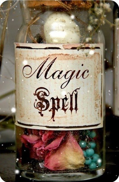 magic spell in a jar