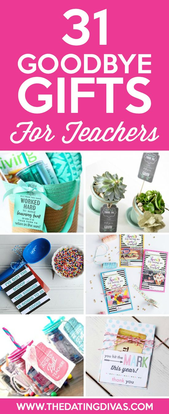 Creative, Cheap, and Easy Goodbye Gifts for Teachers from www.TheDatingDivas.com