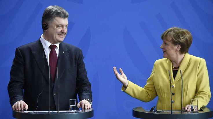Zu Gast bei Gauck und Merkel: Poroschenko auf Staatsbesuch in Berlin http://www.bild.de/politik/inland/petro-poroschenko/in-berlin-bei-gauck-empfang-40173878.bild.html