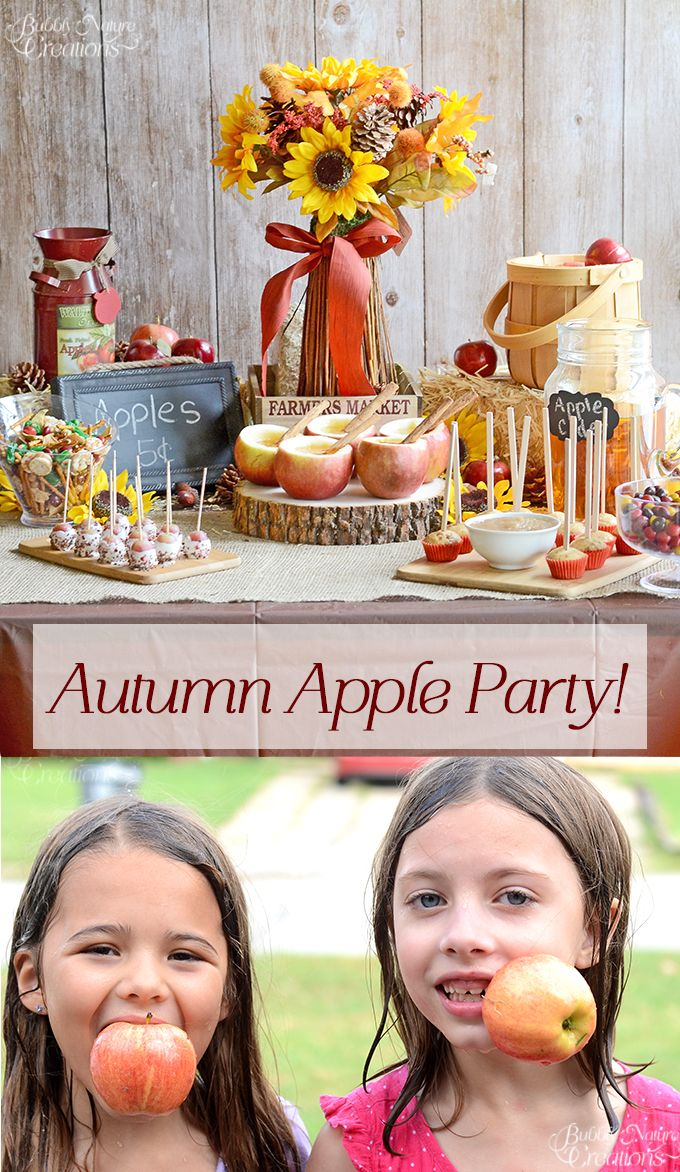 Autumn Apple Party!  Fun Apple party with apple themed food and games!!