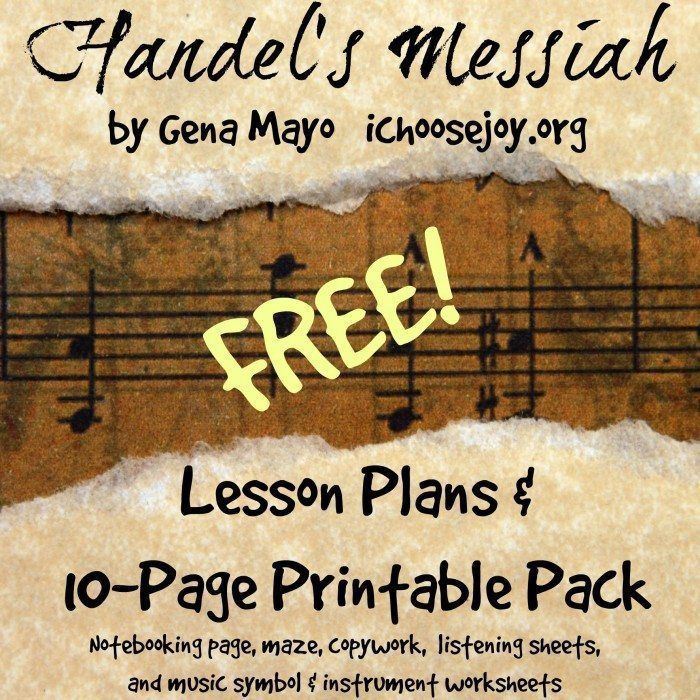429 best homeschool music images on pinterest homeschooling music get a free handels messiah 10 page printable pack fandeluxe Choice Image