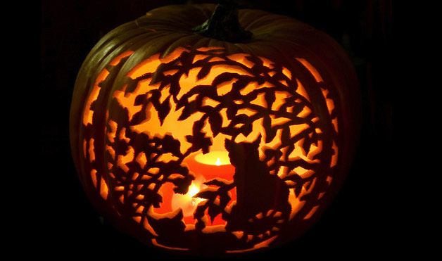 Cool Foam Pumpkin Carving at WomansDay.com... Who knew you could carve a foam pumpkin?