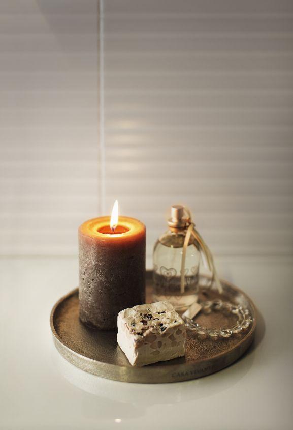 Kynttilöillä lisäät helposti tunnelmaa kylpyhetkeesi.