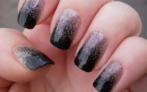 black and shiny