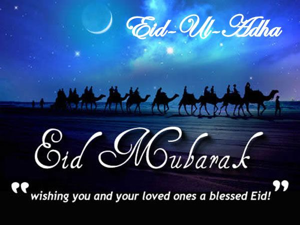 May Allah's blessings be with you today and always! Happy Eid-Ul-Adha.. #EidMubarak
