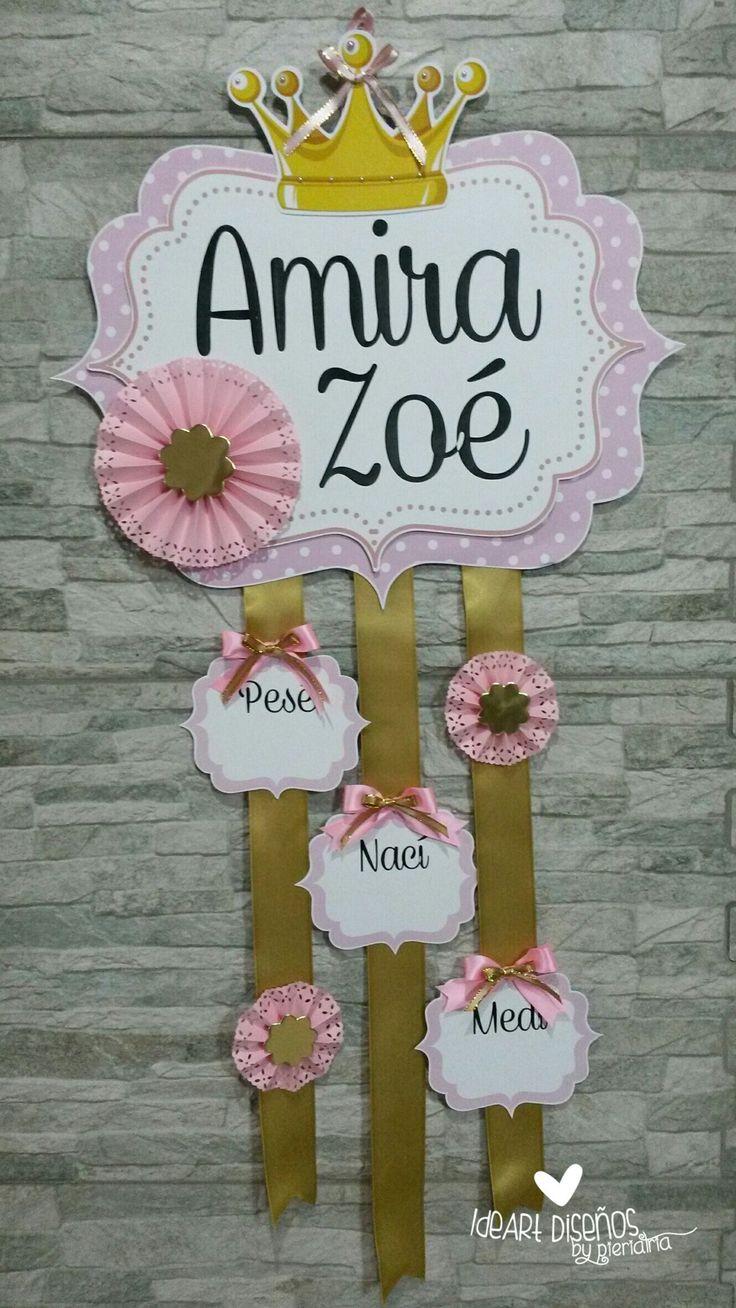 Cartel de bienvenida / Cartel de nacimiento / Baby door hanger