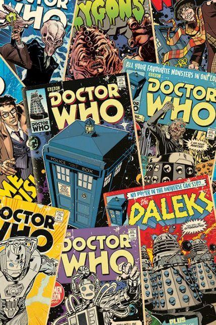 Doctor Who - Okładki Komiksów - plakat - 61x91,5 cm  Gdzie kupić? www.eplakaty.pl