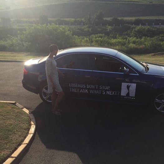 One of our #MMA15 drivers getting paid to get the conversation started. #EarnExtraCash #BrandYourCar #Bucks4Influence #audi